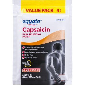 Walmart Stores Inc Equate Capsaicin Pain Patch 4 Count