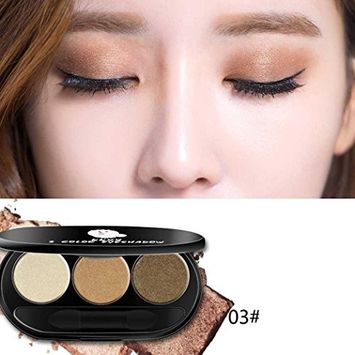 Lotus.flower 3 Colors Chinese Peach Makeup Smoky Warm Color Beads Matte Eye Shadow