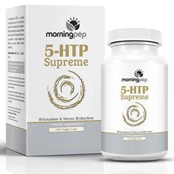 Morning Pep 5-HTP SUPREME 120 Vegetarian Caps, Is A Custom Formulated Natural Relaxation Sleep Aid Support Supplement, Promoting Healthy Sleep Mood Relaxation And Aids Insomnia