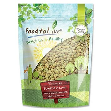 Whole Green Lentils, 5 Pounds - Kosher, Raw, Sproutable, Vegan - by Food to Live