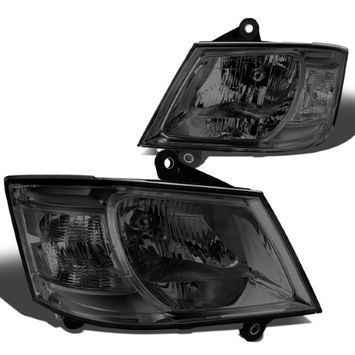 Dna Motoring For 08-10 Dodge Grand Caravan Pair of Headlight (Smoked Lens Clear Corner) - 5th gen C/V