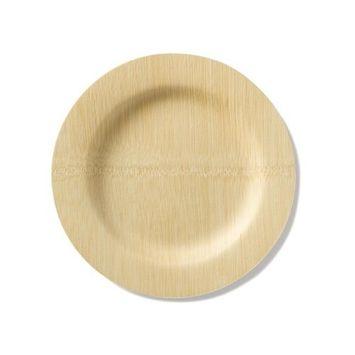 bambu, Veneerware Round Bamboo Plates - 25-Pack, 11 Inches