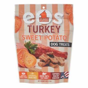 Plato Treats EOS Grain-Free Turkey with Sweet Potato All Stages Dry Dog Treats 4 Oz