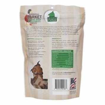 Plato Pet Treats Farmers Market Grain-Free Natural Duck & Vegetables Recipe All Stages Dog Treats 14.1 Oz