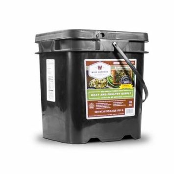 Wise 60 Serving of Seasoned Freeze Dried Beef & Poultry Food Supply + 20 Servings of Instant Rice