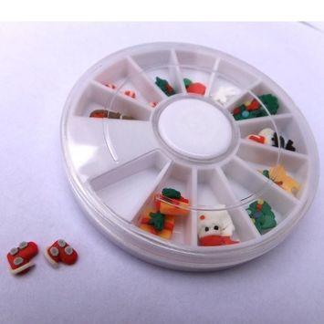 350buy 12 Designs Christmas Holiday 3D Nail Art Polymer Clay Slice, 24pcs