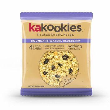 Kakookies Energy Cookies - Boundary Waters Blueberry (Box of 1 Dozen Cookies) - Vegan, Gluten-Free, Soft-Baked Superfood Snack Cookies