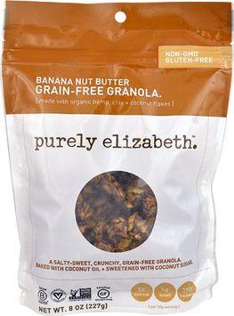 Purely Elizabeth Grain-Free Granola Gluten Free Banana Nut Butter - 8 oz pack of 12