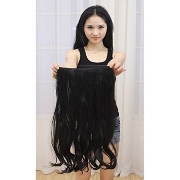 Light Brown Hair Extension Halo Hairpiece Long 18