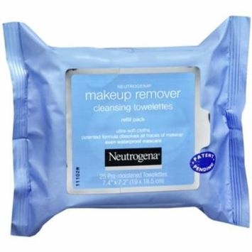 Neutrogena Make-Up Remover Cleansing Towelettes Refills 25 Each (Pack of 4)