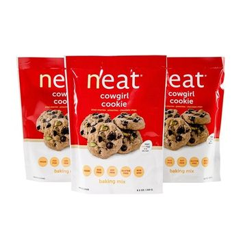 neat - Plant-Based - Cowgirl Cookie Mix (9.5 oz.) (Pack of 3) - Non-GMO, Gluten-Free, Soy Free, Baking Mix
