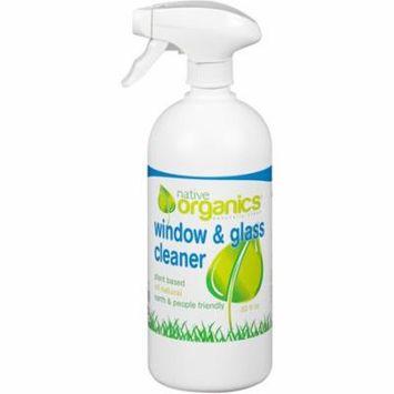 Native Organics Window & Glass Cleaner, 32 fl oz - 2X BOTTLES