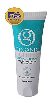 Organic Glide OrganicGlide Probiotic All Natural Personal Lubricant 2.5oz Tube, 100% Edible Lubricant. Probiotic O