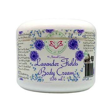 Organic Fields of Heather Lavender Fields Organic Body Cream With Botanically Infused Ingredients, 8.0 fl. Oz