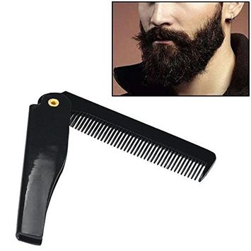 FTXJ Hairdressing Portable Folding Beard Hair Comb Men's Beauty Tools