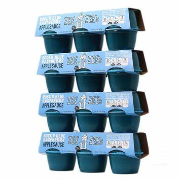 Zee Zees Applesauce Cups, Rock'n Blue Raspberry, 4 oz Cups, 24 pack [Rock'n Blue Raspberry]