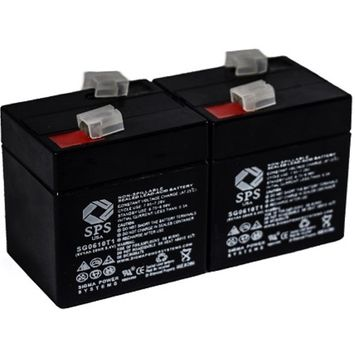 SPS Brand 6V 1 Ah (Terminal T1) Replacement battery for Powersonic PS618 (2 PACK)