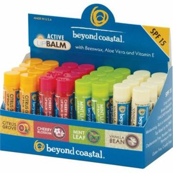 Beyond Coastal Active Lip Balm: Assorted Flavors, Box of 32