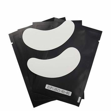 100 Pairs Eye Gel Pads, Lint Free Under Eye Patches for Eyelash Extensions, Premium Eye Mask Beauty Tool Kit, Black-2