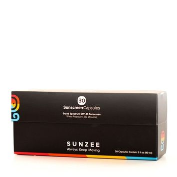 SunZee - Wearable Sunscreen Dispenser - Take your sunscreen out of your bag and onto your wrist - Keep Skin protected for hours wherever you are, SPF 40 - Red (Capsules)