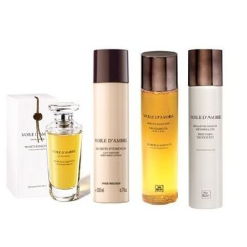 Yves Rocher Voile d'Ambre 4-piece Gift Set for Women: Voile d'Ambre Eau de Perfume, 50 ml/ Perfumed Body Lotion, 200 ml&/ Body Shower, 200 ml/ Perfumed Deodorant, 100 ml (Available after 09/30/2012). Imported directly from France/ VERY HARD TO FIND.