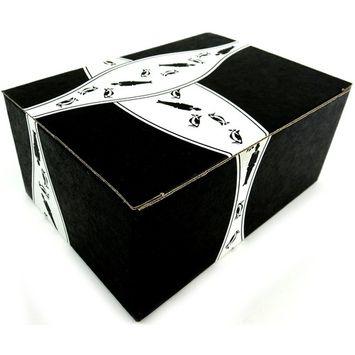 NECCO Classic Sweethearts Conversation Hearts, 1 lb Bag in a BlackTie Box