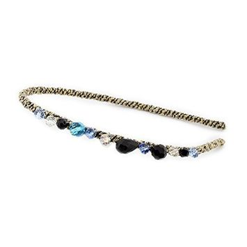 SODIAL Fashion Multicolor Handcraft Crystal Rhinestones Women Hairband Hair Accessories Hair Band Headband B