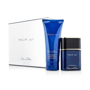 OSCAR DE LA RENTA Pour Lui Coffret: Eau De Toilette Spray 90ml/3oz + Hair & Body Wash 200ml/6.7oz For Men 2pcs