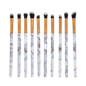 aliveGOT 10 Pcs Makeup Brush Set Professional Face Eye Shadow Eyeliner Foundation Blush Blending Brush Face Powder Blush Concealers Eye Shadows Make Up Brushes Kit