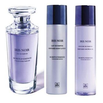 Yves Rocher Secrets d' Essences Iris Noir 3-piece Gift Set for Women: Iris Noir Eau de Toilette, 75 ml, Perfumed Body Lotion, 200 ml & Perfumed Body Shower, 200 ml....