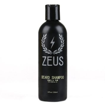 ZEUS Beard Shampoo and Wash, Vanilla Rum, 8 Fluid Ounce