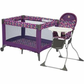 Cosco Butterfly Twirl High Chair & Playard Value Set