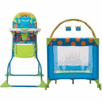 Cosco Monster Syd High Chair & Playard Value Set