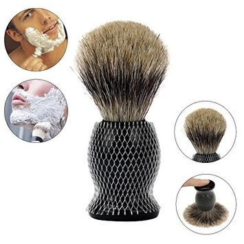 DZT1968 1pc ZY Pure Badger Hair Shaving Brush Resin Handle Best Shave Barber black