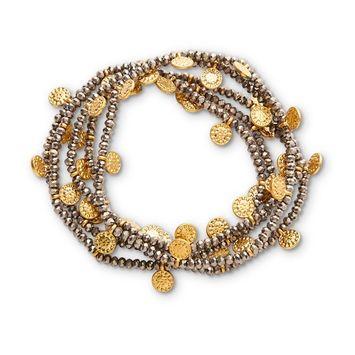 Attention Women's 5-Pack Goldtone & Hematite Stretch Bracelets