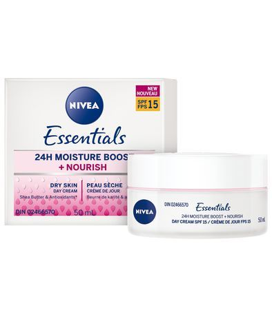 Nivea Essentials 24H Moisture Boost + Soothe Day Cream With Spf15 1