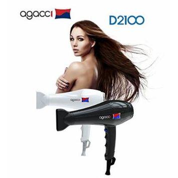 H2PRO Agacci Hair Dryer 2000 Watt - D2100 Featherweight White Made in Korea