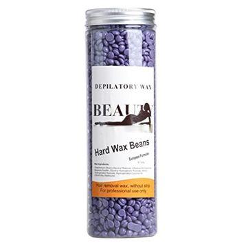 Bestpriceam No Strip Depilatory Hot Film Hard Wax Pellet Waxing Bikini Hair Removal Bean, 14Ounce / 400G (Purple)
