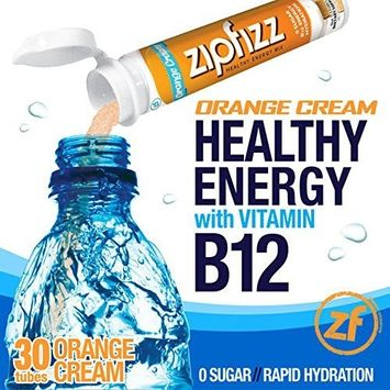 Zipfizz Orange Cream Healthy Energy Drink Mix - Transform Your Water Into a Healthy Energy Drink - 2 Boxes, 30 Tubes Each
