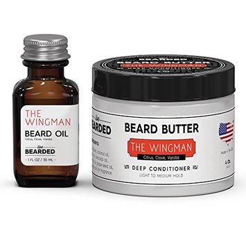 Citrus Beard Oil Kit   Live Bearded Made in USA   The Wingman Citrus, Clove, Vanilla Mens Beard Oil Kit [Citrus, Clove, Vanilla - The Wingman]