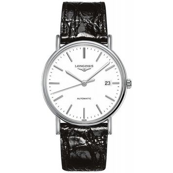 Longines Presence Automatic White Dial Mens Watch L49214122