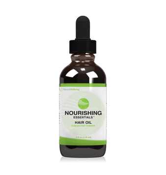 Natural Wellbeing Hair Essentials Nourishing Hair Oil Coconut and Essential Oil Blend - Moisturizes, Conditions, Strengthens and Protects Hair - 4 oz/118 ml Liquid Bottle