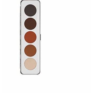Kryolan Eye Shadow Palette 5 Colors 5336 Shading Makeup
