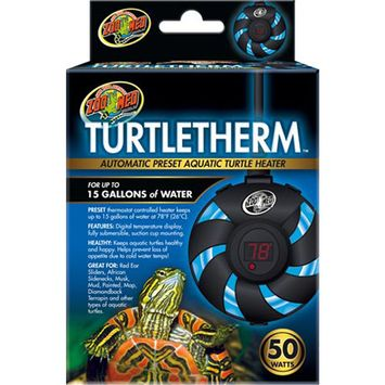 Zoo Med Turtletherm Automatic Preset Aquatic Turtle Heater 50 Watt - (Up to 15 Gallons)