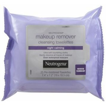 Neutrogena Night Calming Makeup Remover Cleansing Towelettes, 25 ct (Quantity of 4)
