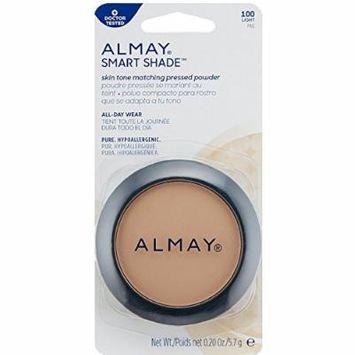 Almay Smart Shade Skintone Matching Pressed Powder, Light [100] 0.20 oz