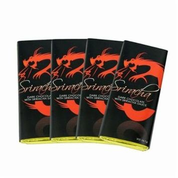 Sugar Plum Chocolates - Devil Inside Dark Chocolate Sriracha Candy Bar, Gourmet Chocolate Gift, Perfect for Valentine's Day Gift, Hostess Gift or Any Occasion, 4 pack