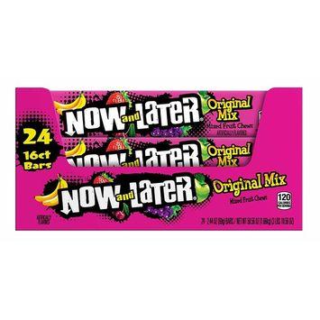 Now & Later 24 Piece Original Taffy Chews Candy, Mixed Fruit, 2.44 Ounce