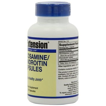 Life Extension Glucosamine/Chondroitin Sulfate, 100 Capsules [Standard Packaging]