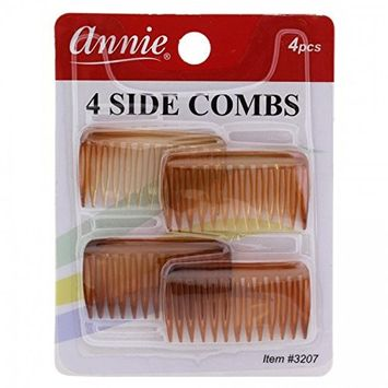 Annie Side Combs Small 4 pcs Brown #3207